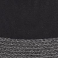 Calvin Klein Sweaters for Women: Black/Heather Charcoal Gray Calvin Klein Colorblock Merino Cowl Neck Sweater