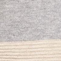 Calvin Klein Sweaters for Women: Light Heather Gray/Tan Calvin Klein Colorblock Merino Cowl Neck Sweater