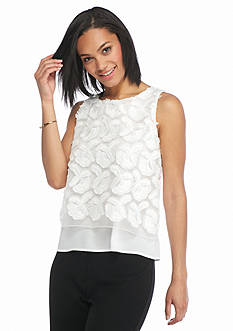 Calvin Klein Floral Textured Sleeveless Top