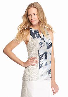 Calvin Klein Mixed Print Halter Top