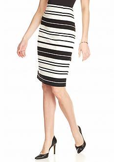 Calvin Klein Variegated Stripe Pencil Skirt