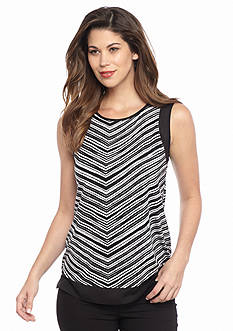 Calvin Klein Striped Mix Media Tank