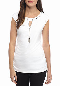 Calvin Klein Chain Neck Knit Top