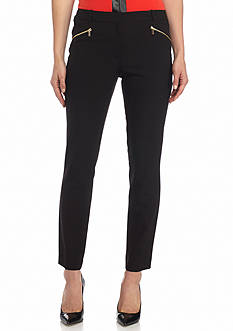 Calvin Klein Solid Zip Detail Pants