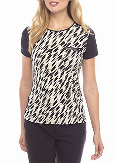 Calvin Klein Printed Front Stud Pocket Top