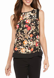 Calvin Klein Abstract Floral Blouse