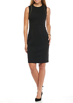 Calvin Klein Sheath with Zipper Dress