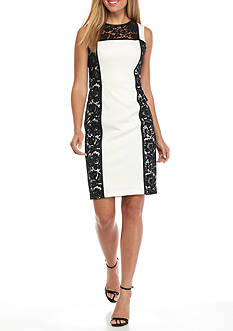 Calvin Klein Lace Panel Sheath Dress
