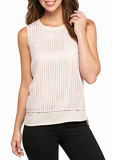 Calvin Klein Geo Texture Sleeveless Top