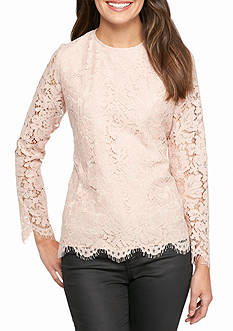 Calvin Klein Long Sleeve Lace Top