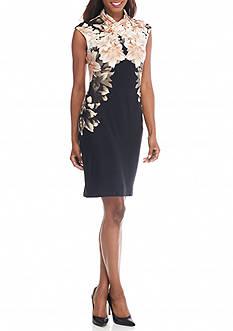 Calvin Klein Sleeveless Ruched Dress