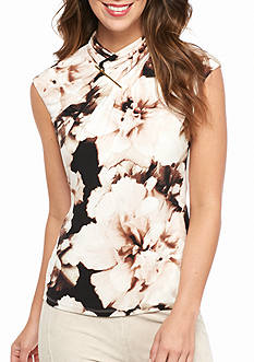 Calvin Klein High Neck Printed Top