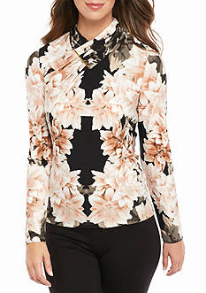 Calvin Klein Long Sleeve Printed Top