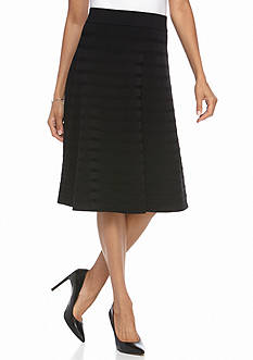 Calvin Klein Ribbed Striped Detail Skirt