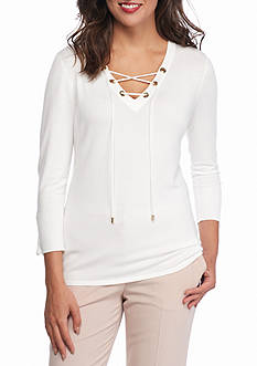 Calvin Klein Fine Lace Up Sweater