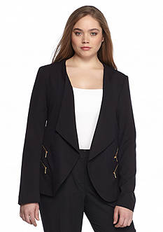 Calvin Klein Plus Size Open Front Jacket