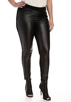 Calvin Klein Plus Size Faux Suede Front Legging