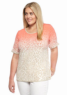 Calvin Klein Plus Size Animal Print Top