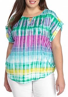 Calvin Klein Plus Size Printed Woven Top