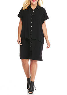 Calvin Klein Plus Size Double Layer Dress