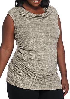 Calvin Klein Plus Size Metallic Texture Top