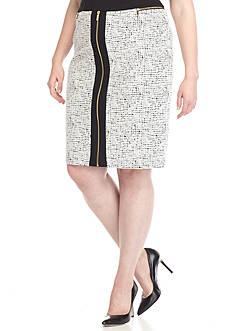 Calvin Klein Plus Size Textured Jacquard Ponte Pencil Skirt