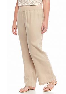 Calvin Klein Plus Size Linen Pants