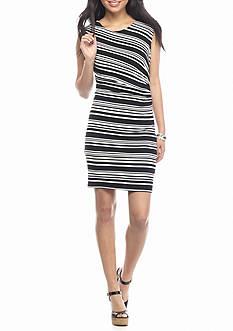 KELLY RENE Sleeveless Stripe Knit Dress