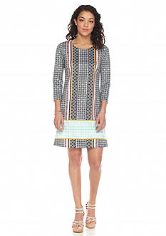 KELLY RENE Printed Scuba Dress