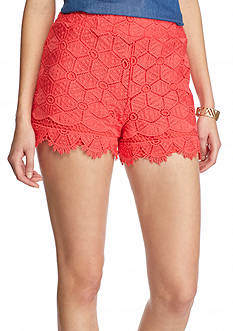 love, FIRE Fire Solid Lace Shorts
