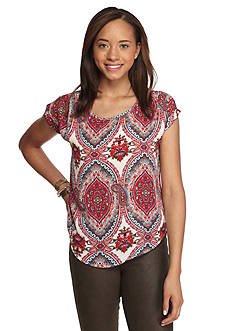 love, FIRE Printed Woven Blouse