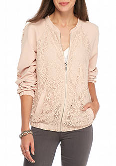 love, Fire Lace Bomber Jacket