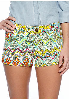 Fire Aztec Print Short