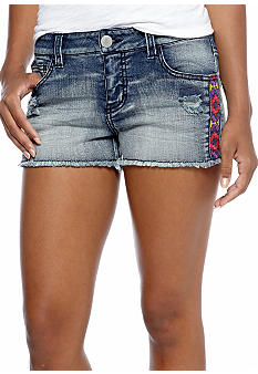 Fire Jean Shorts with Side Detail