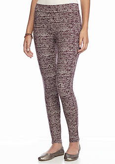 love, Fire Printed Pull-On Stretch Pants
