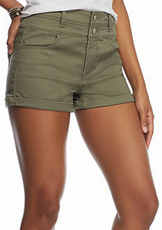 love, FIRE Two Button Roll Cuff Shorts