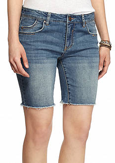 love, Fire Raw Edge Bermuda Shorts