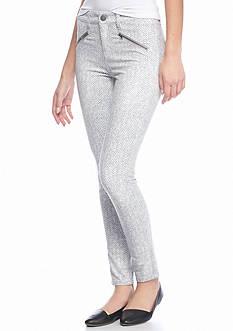 love, Fire Herringbone Zip Pocket Skinny Pants