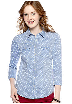 Fire Long-Sleeved Polka Dot Shirt