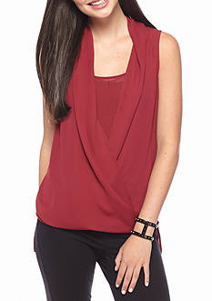 love, Fire Crossover Woven Blouse