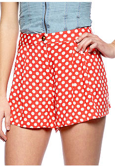 Fire Dot Print Challis Shorts