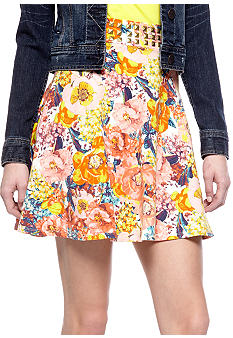 Fire Studded Floral Skirt