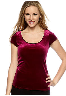Fire Cap Sleeved Velvet Top