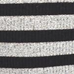 Casual Dresses for Juniors: Black/Grey Stripe Fourteenth Place Striped Mock Neck Midi Dress