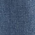 Plus Size Mid Rise Jeans: Patina Blue Melissa McCarthy Seven7 Plus Size Destructed Bootcut Jeans