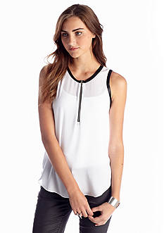 Eight Sixty Sleeveless Zip Top