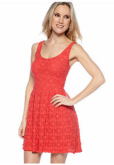 Eight Sixty Puckered Lace Dress