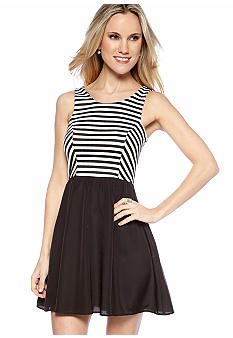 Eight Sixty Stripe Combo Dress