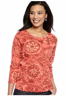 Jane Ashley Medallion Printed Top