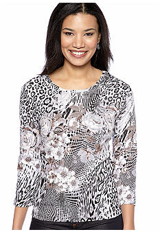 Jane Ashley Floral Animal Printed Top